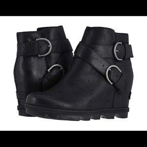 SOREL Black Joan of Arctic Wedge II Boots NWT!!